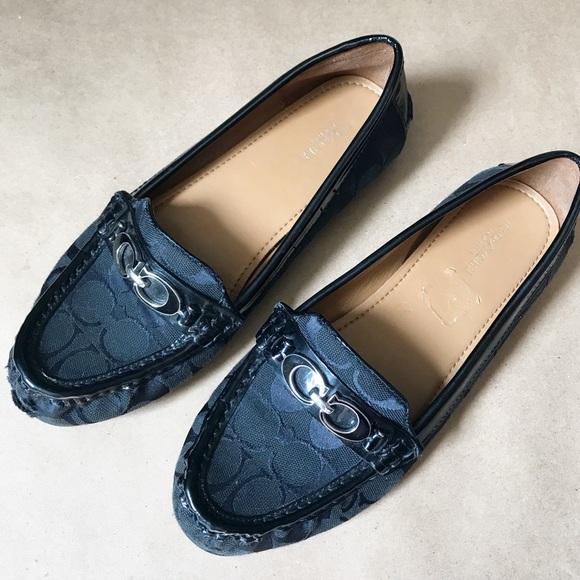 693b4198471 Coach Shoes - Coach Fortunata Black Jacquard Driving Loafer FLAW